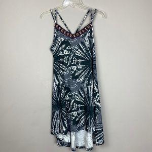Tie die print hi/low dress size medium